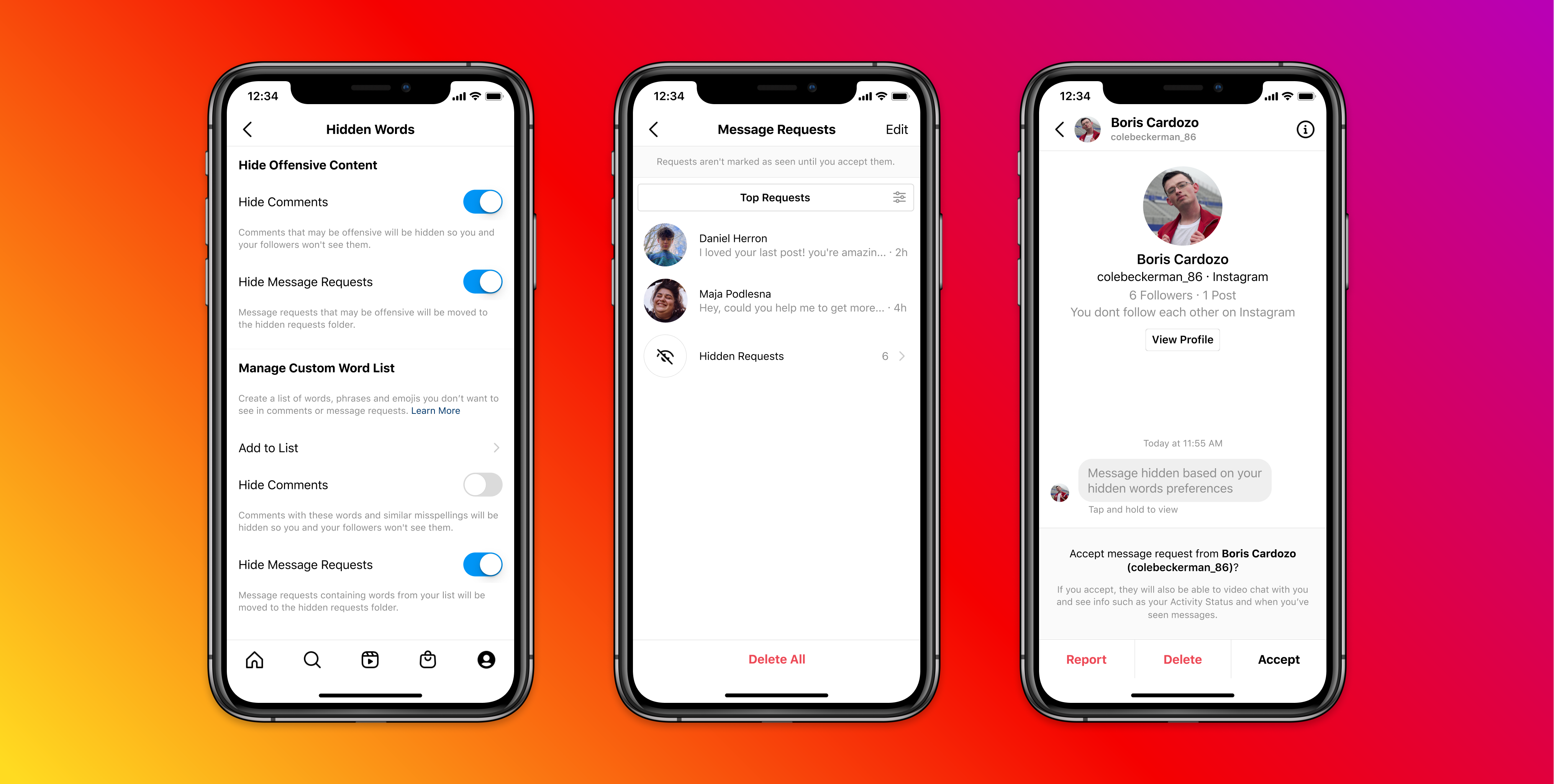 Instagram launches tools to filter out abusive DMs based on keywords and emojis, and to block people, even on new accounts