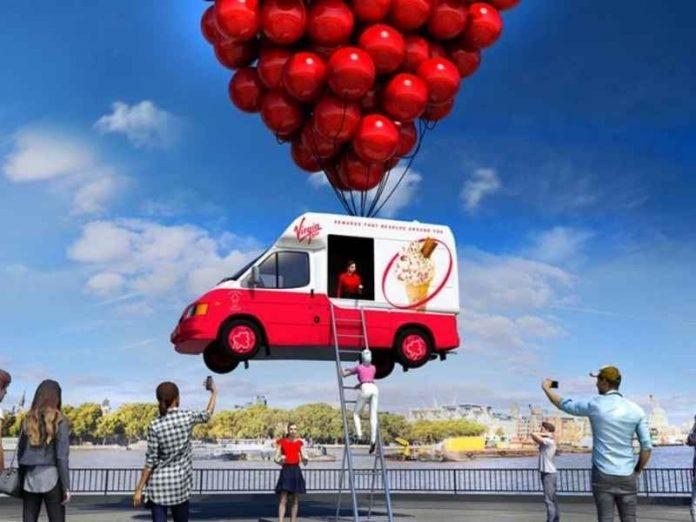Virgin creates flying ice-cream van